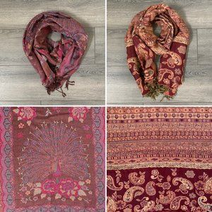 Bundle of 2 100% Pashminas Vibrant Colors